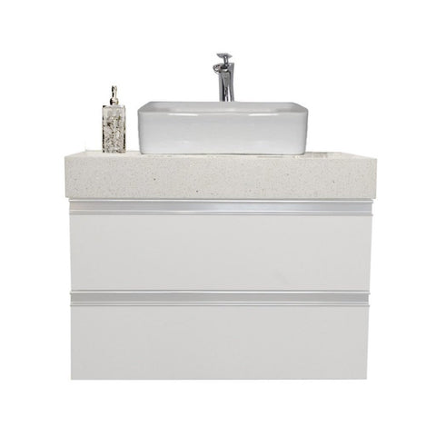 "30"" Floating Single Sink Vanity Set -White"