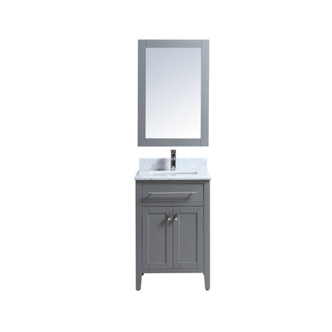 "24"" Single Sink Vanity Set with Mirror (Grey)"