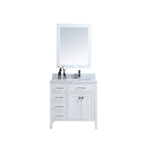 "36"" Single Sink Vanity Set with Mirror (White)"