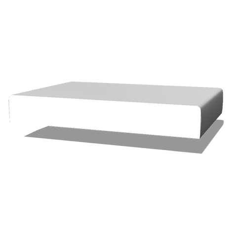 "Round Edge, Primed LDF Base Moulding 1/2"" x 4-1/2"" x 16'"