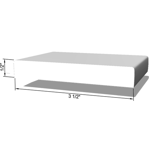 "Round Edge, Primed LDF Base Moulding 1/2"" x 3-1/2"" x 8'"