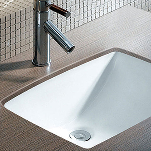 Rectangle Undermount Bathroom Basin Sink Small