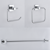 Modern 3-Piece Bath Accessory Set (Brushed Nickel, Polished Chrome or Matte Black)