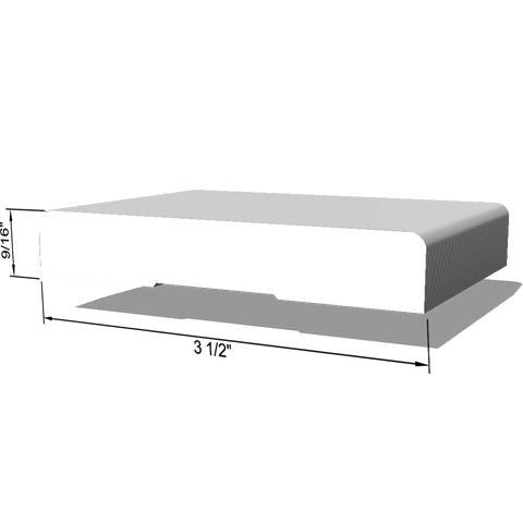 "Primed LDF Mullion Casing 9/16"" x 3-1/2""x 17'"