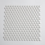 Glossy White Penny Tile Mosaic (1 sq ft sheet)