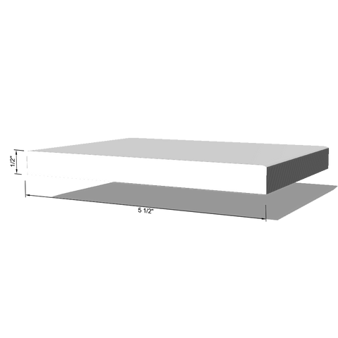 "Round Edge, Primed LDF Base Moulding 1/2"" x 5-1/2"" x 16'"