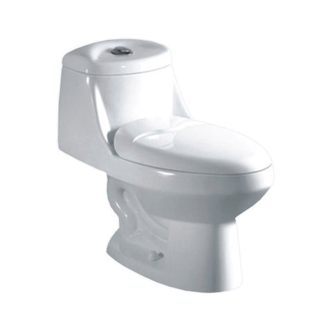 High Efficiency Dual Flush Elongated All-in-One Toilet in White