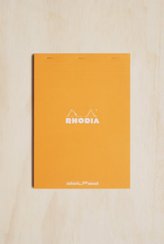 Rhodia - #18 Pad - Dot Grid - Top Stapled - A4 - Orange