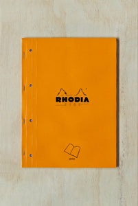 Rhodia - #18 Pad - Seyes / French Ruled - Side Stapled - A4 - Orange