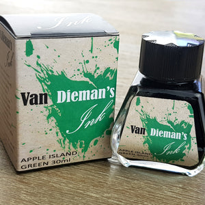 Apple Island Green - Van Dieman's Fountain Pen Ink - Original Series