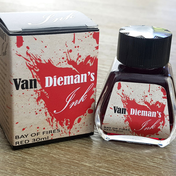 Bay Of Fires Red - Van Dieman's Fountain Pen Ink - Original Series