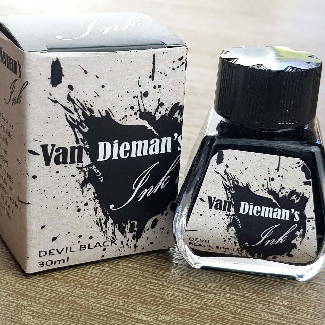 Devil Black - Van Dieman's Fountain Pen Ink - Original Series