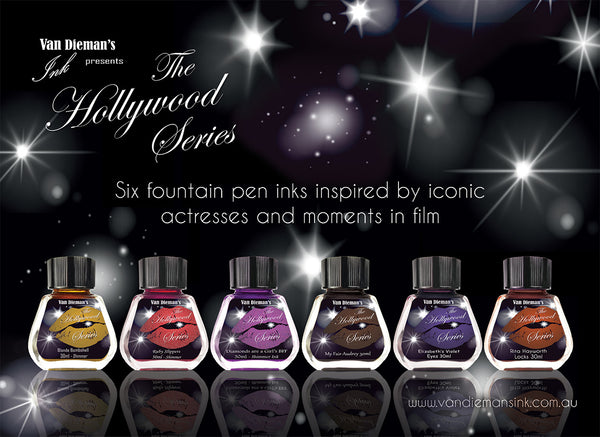 Diamonds are a Girl's BFF (Shimmer Ink) - Van Dieman's Fountain Pen Ink - Hollywood Series