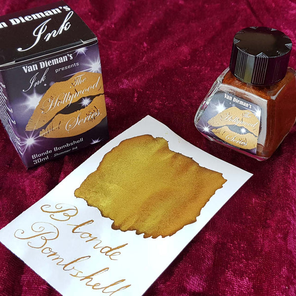 Blonde Bombshell (Shimmer Ink) - Van Dieman's Fountain Pen Ink - Hollywood Series