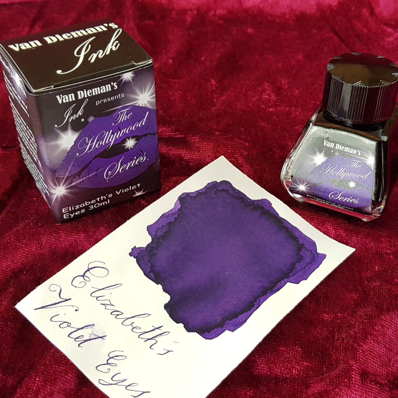 Elizabeth's Violet Eyes - Van Dieman's Fountain Pen Ink - Hollywood Series