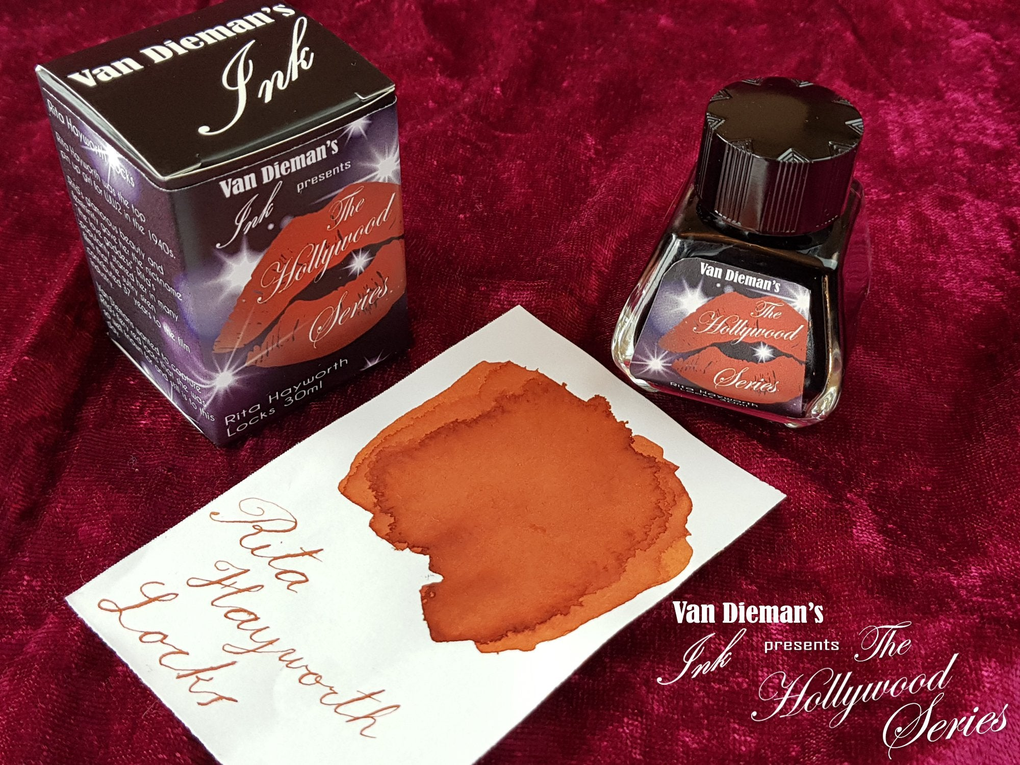 Rita Hayworth Locks - Van Dieman's Fountain Pen Ink - Hollywood Series