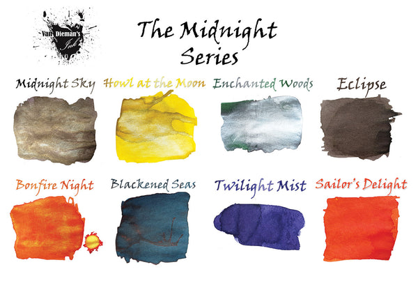 Midnight Sky (Shimmer Ink) - Van Dieman's Fountain Pen Ink - Midnight Series