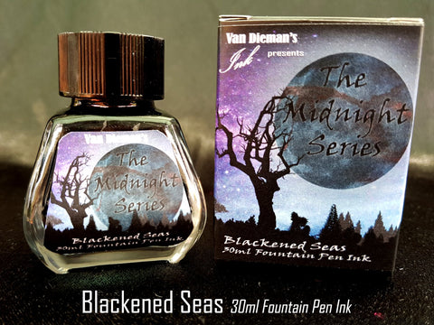 Blackened Seas - Van Dieman's Fountain Pen Ink - Midnight Series