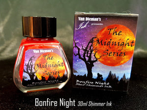 Bonfire Night (Shimmer Ink) - Van Dieman's Fountain Pen Ink - Midnight Series