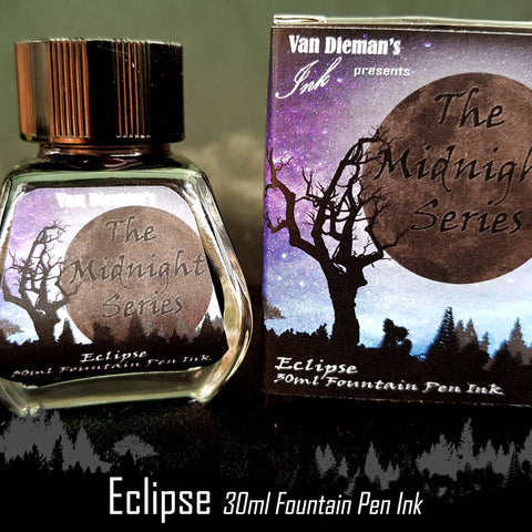 Eclipse - Van Dieman's Fountain Pen Ink - Midnight Series