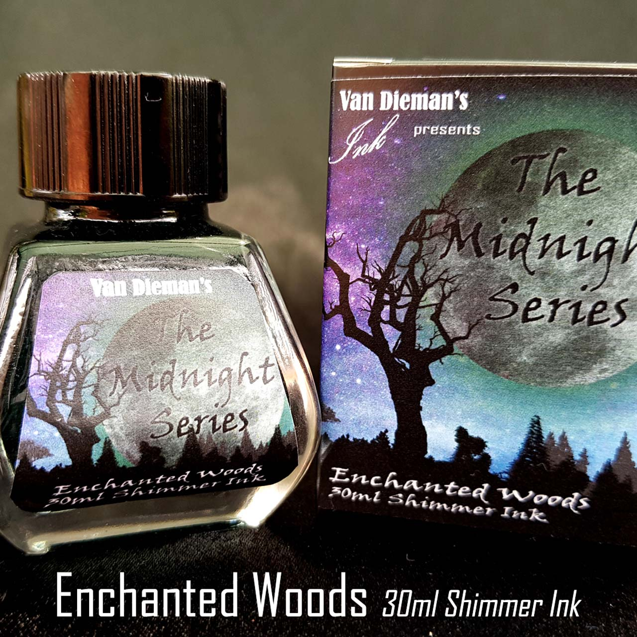 Enchanted Woods (Shimmer Ink) - Van Dieman's Fountain Pen Ink - Midnight Series
