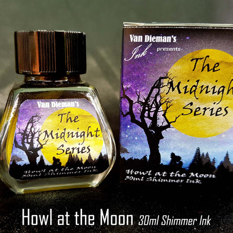 Howl at the Moon (Shimmer Ink) - Van Dieman's Fountain Pen Ink - Midnight Series
