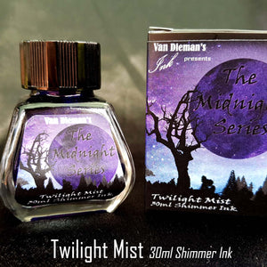 Twilight Mist (Shimmer Ink) - Van Dieman's Fountain Pen Ink - Midnight Series