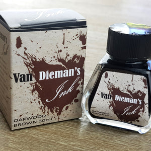 Oakwood Brown - Van Dieman's Fountain Pen Ink - Original Series