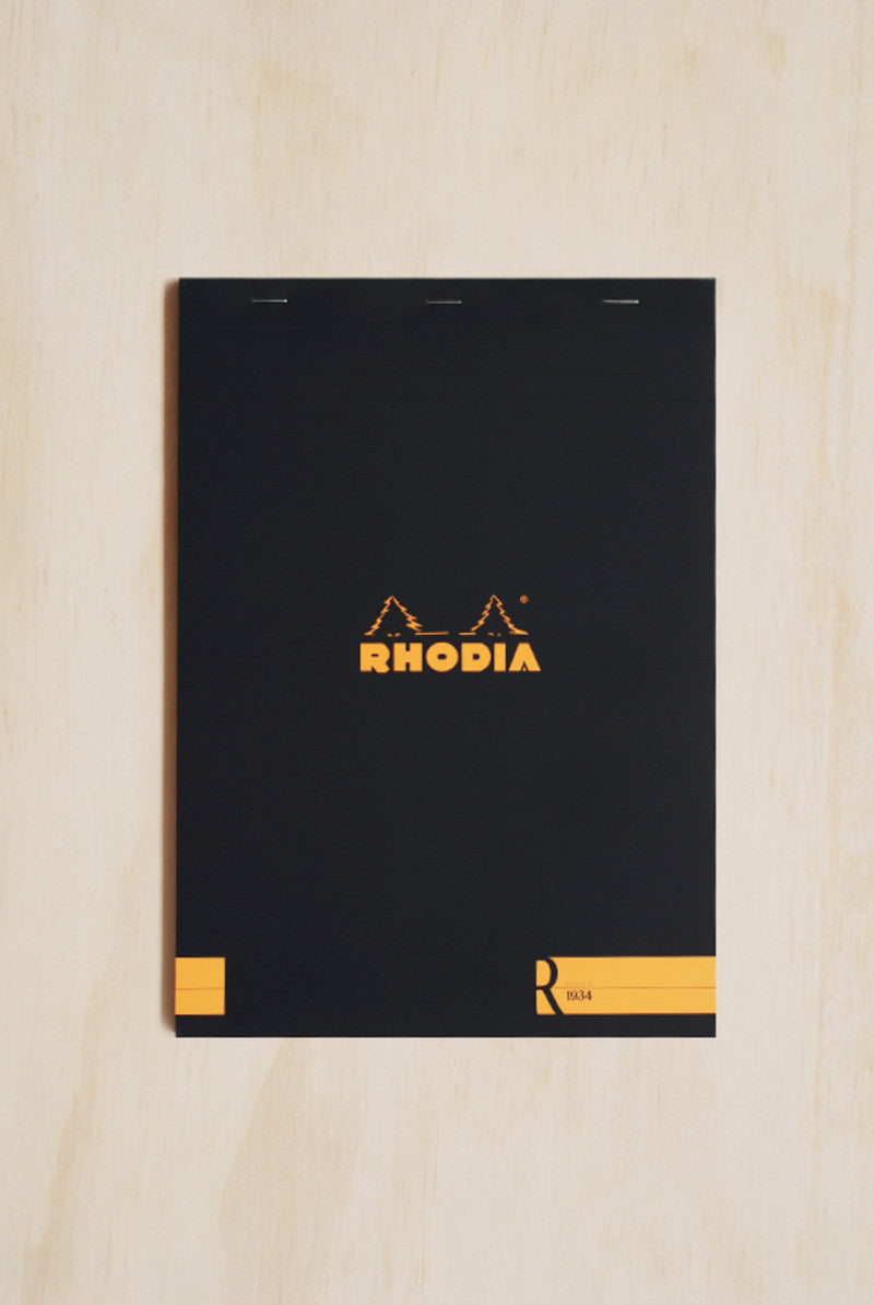 Rhodia - Premium 'R' Pad - Ruled - A4 - Black #18