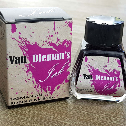 Tasmanian Robin Pink - Van Dieman's Fountain Pen Ink - Original Series