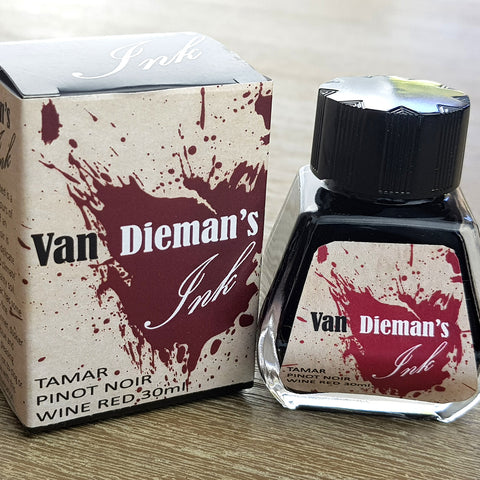 Tamar Valley Pinot Noir Wine Red - Van Dieman's Fountain Pen Ink - Original Series