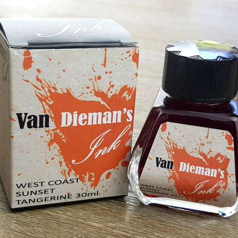 West Coast Sunset Tangerine - Van Dieman's Fountain Pen Ink - Original Series