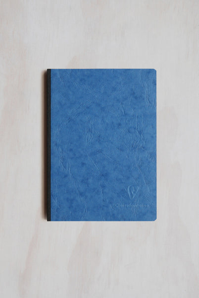 Clairefontaine - Cloth-Bound Notebook - Ruled - A5 - Blue