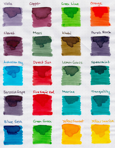 Random 10 Pack - Robert Oster Signature Ink