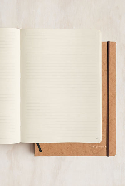 Clairefontaine - Thread-Bound Notebook - Ruled - A4 - Tobacco