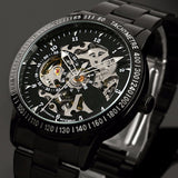 Fashion Men's Brand Sport Watch Stainless Steel Skeleton Automatic Mechanical watches men Steampunk Military Clock male New