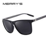 MERRY'S Unisex Retro Aluminum Sunglasses Polarized Lens Vintage Sun Glasses For Men/Women S'8286