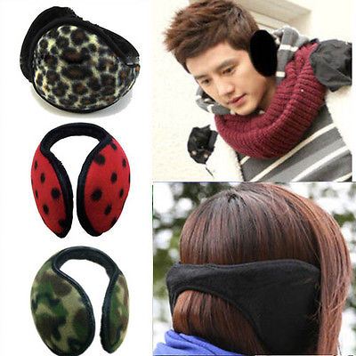 warmers Mens Ear Muffs Fleece Earwarmer Winter Ear Womens Behind the Head Design