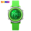 2017 New SKMEI popular Brand children kids fashion Sports Watches Digital LED Wristwatches green blue white black rubber strap