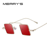 MERRY'S Vintage Women/Men Steampunk Square Sunglasses S'8084