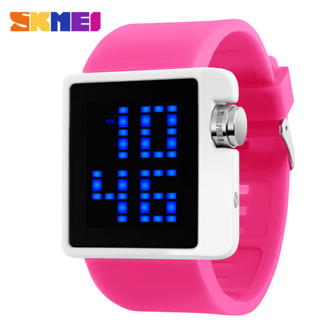 2016 SKMEI Brand Lovers Fashion Casual LED Digital Watch Men Dive 50M silicone band Sports Watches Women dress wristwatches