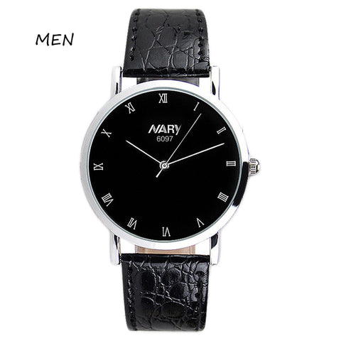 NARY Fashion Casual Men Watches Women Dress Quartz-Watch Brand Luxury Leather Business Couple Lover Wristwatch Relogio Masculino