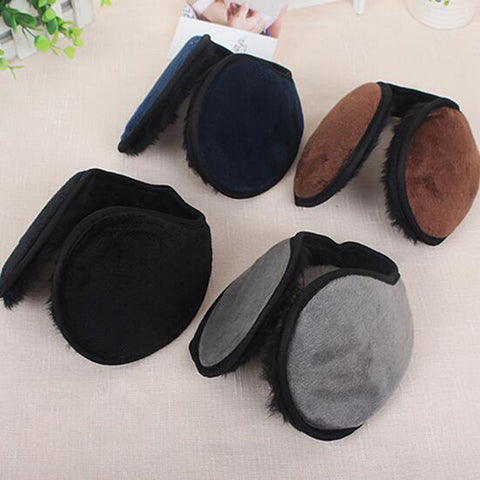 Fashion Solid Color Soft Comfy Unisex Earmuffs Plush For Women Men Warm Winter Ear Muffs Cover Accessories Good Quality Gifts