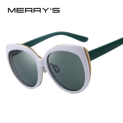MERRY'S Fashion Women Eyewear Cat Eye Shades Luxury Brand Designer Shades Big Frame UV400