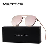 MERRY'S 2017 New Arrival Women Classic Brand Designer Rimless Sunglasses Twin Beam Metal Frame Sun Glasses S'8096