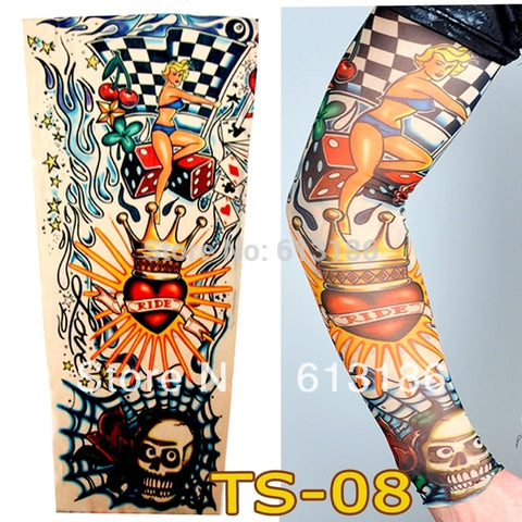 Wholesale 2017 Women /Men Love To Ride cycling Arm warmers Tattoo Sleeves for Bikers.More 140 Styles Can Choose