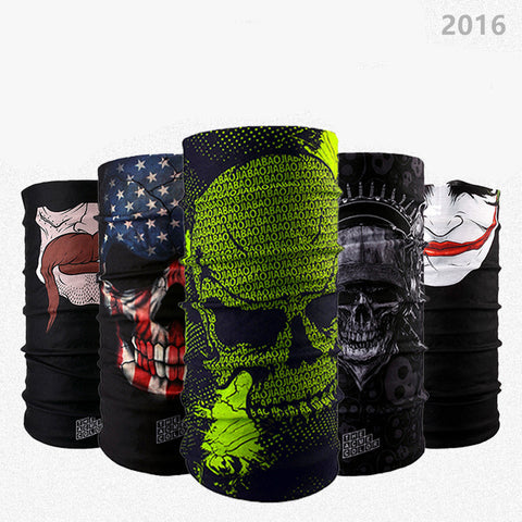 Lot of Design Skull Series 2 Scarf Variety Magic Bandanas  Neckerchief Hijab Headband Veil Head Scarves Face Mesh Face Mask Wraf