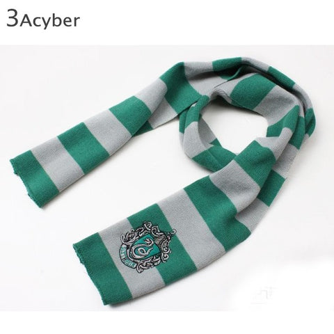 New Scarf Men Women Scarves Movie Fans' Favorite School Unisex Striped Knitted Winter Warm Scarf Shawl