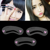 3 Styles Grooming Stencil MakeUp Shaping DIY Beauty Eyebrow Template Stencils Make up Tools Accessories