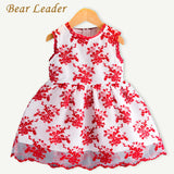 Bear Leader Girls Dress 2017 New Summer Style Chindren Clothing Sleeveless Mesh Design for Baby Girls Dress 3-7Y Princess Dress